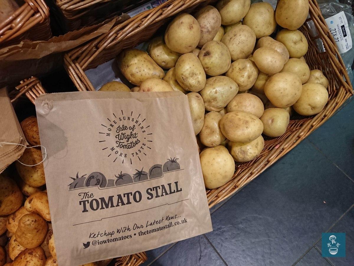 薯仔,走塑超級市場提供紙袋