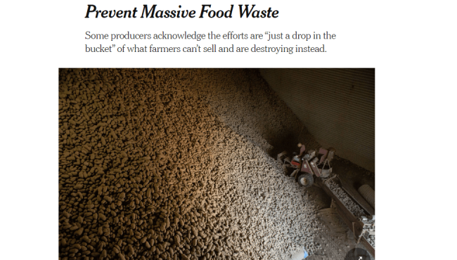 New York Times May 2 articles farmer trying to prevent food waste f