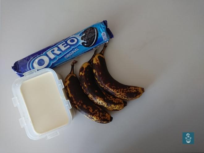過熟香蕉、Oreo、重忌廉 Ripe banana Ore Double Cream
