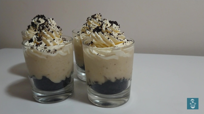 Oreo香蕉忌廉杯甜品 Oreo Banana Cream Shot Dessert